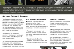 U.S. Army Reserve Family Programs Survivor Outreach Services Flyer