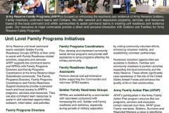 U.S. Army Reserve Family Programs Unit Focus and Program Support Flyer