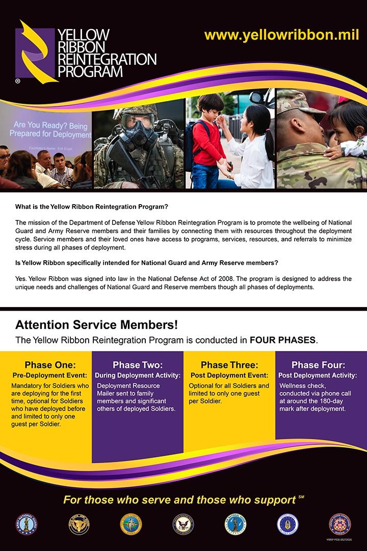 Yellow Ribbon Reintegration Program Poster