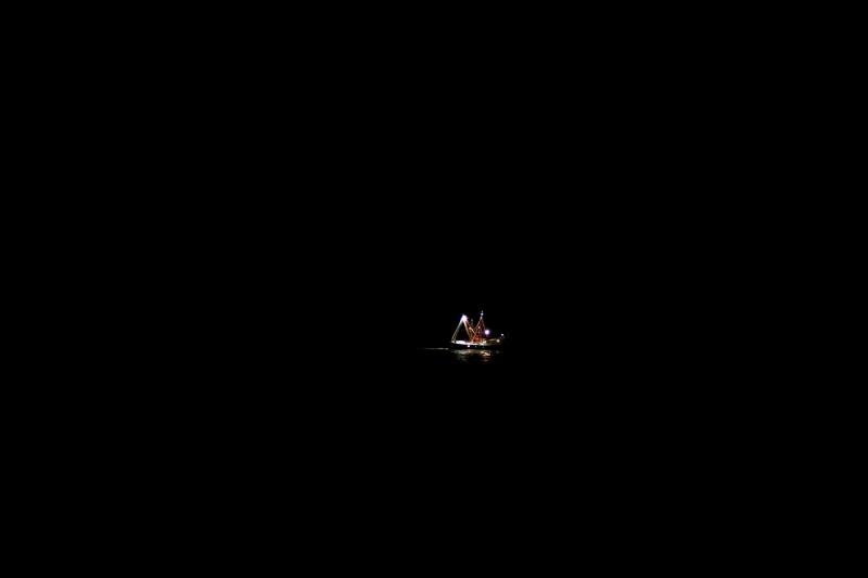 Alone in the night.